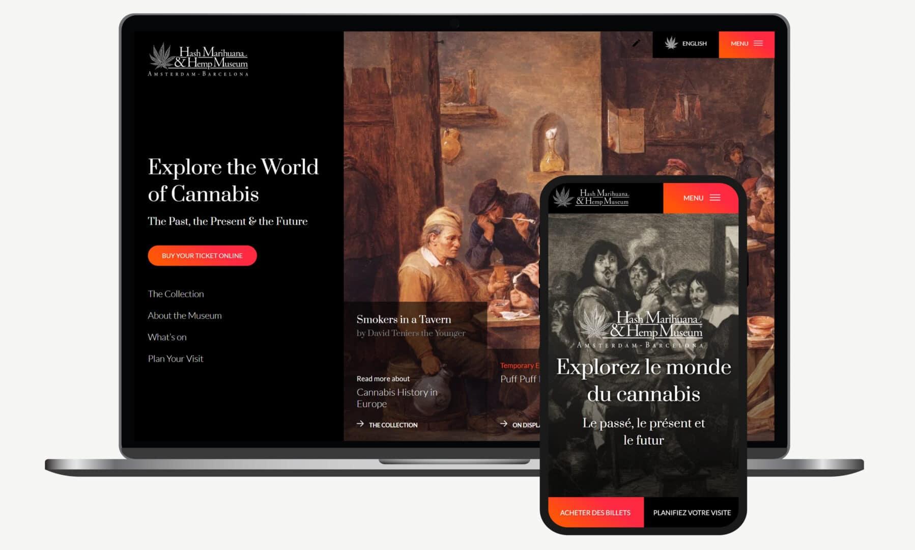 Webdevelopment voorbeeld hempmuseum