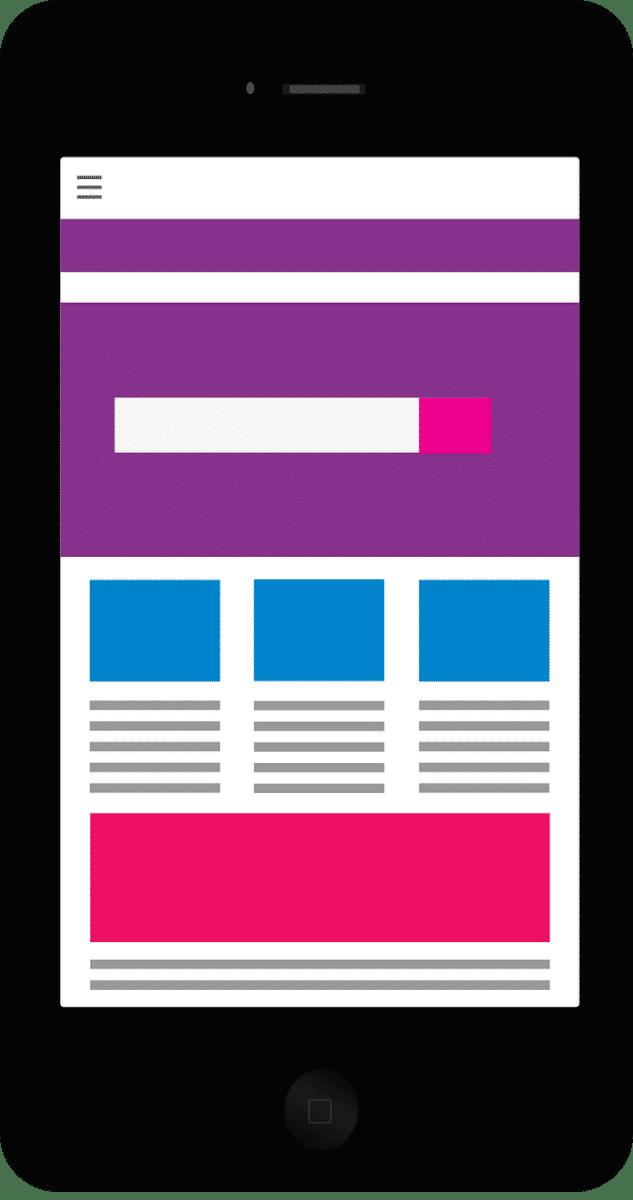 mobiele website ontwerpen