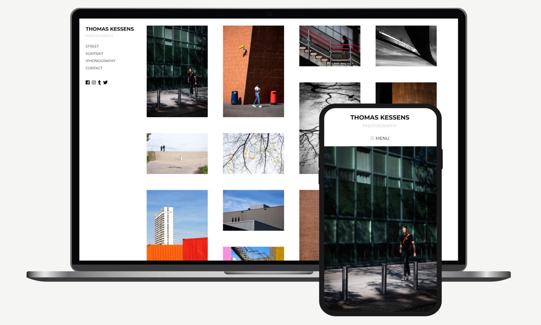 Webdevelopment voorbeeld Thomas Kessens fotografie